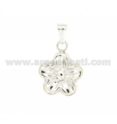 FLOWER CHARM COUPLED 23x18 MM SILVER TIT 925 ‰