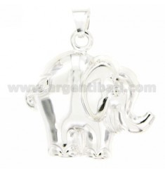 CHARM COUPLED ELEPHANT 36x36 MM SILVER TIT 925 ‰