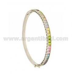 BANGLE TENNIS WITH SWAROVSKI MULTICOLOR SILVER RHODIUM TIT 925 ‰