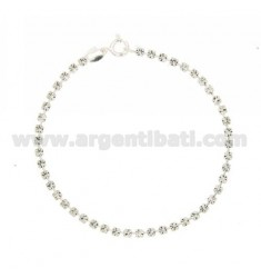 TENNIS BRACELET SILVER 2.5 MM 925 ‰ TIT AND CRYSTAL WHITE CM 18