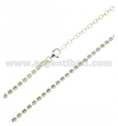 COLLANA TENNIS MM 2,5 IN ARGENTO TIT 925‰ E STRASS BIANCHI CM 50