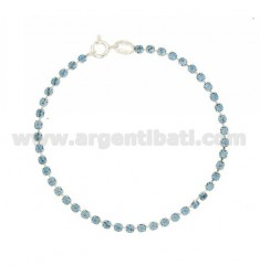 TENNIS BRACELET SILVER 2.5 MM 925 ‰ TIT AND STRASS CELESTE CM 18