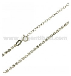 COLLARINO TENNIS MM 2,5 IN ARGENTO TIT 925‰ E STRASS BIANCHI CM 34 ESTENSIBILE A 40