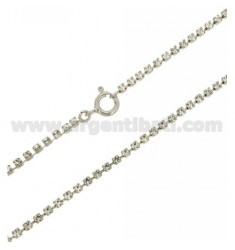 TENNIS NECKLACE 2.5 MM SILVER RHODIUM TIT 925 ‰ E STRASS WHITE CM 50