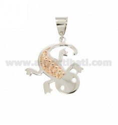 PENDANT JECO DOUBLE DIAMOND PLATE FUND IN SILVER PLATED ROSE GOLD AND RHODIUM TIT 925