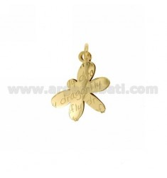 CHARM.DRAGONFLY DRAGONFLY DOUBLE SHEET IN GOLD PLATED TIT 925