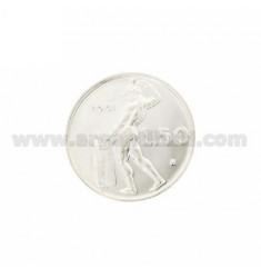 MONEDA £ 50 ANNO 2001 DIAMETRO 25 MM PLATA TIT 925