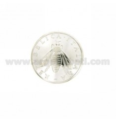 MONETA £ 2 ANNO 2001 CONCAVA DIAMETRO MM 22 IN ARGENTO TIT 925