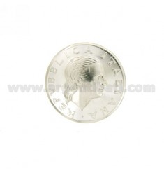 MONETA £ 200 ANNO 2001 CONCAVA DIAMETRO MM 25 IN ARGENTO TIT 925
