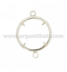 FRAME FOR COIN OF 23 MM WITH 2 SWEATERS IN SILVER 925 ‰