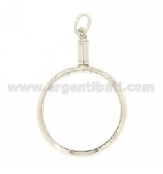 FRAMES FOR COIN SILVER SCREW TIT 925 ‰ 25 MM INTERNAL