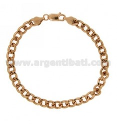 BRACELET VARIANT Curb MM 6 SILVER ROSE GOLD PLATED TIT 925 ‰ CM 19