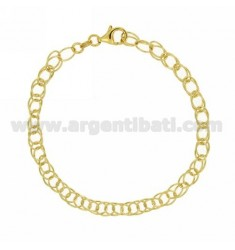 BRACELET VARIANT CABLE WIRE SILVER GOLD PLATED TIT 925 ‰ CM 19