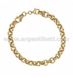 ROLO VARIANT BRACELET 'MM 8 SILVER GOLD PLATED TIT 925 ‰ CM 19