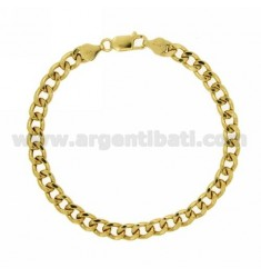 BRACELET VARIANT Curb 6 MM SILVER GOLD PLATED TIT 925 ‰ CM 19
