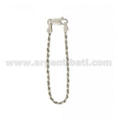 Schlüsselkette Funetta Silber Rhodium TIT 925 ‰