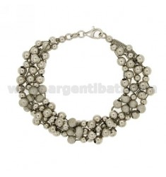 MESH BRACELET AND SPECIAL BALL Lucice dotted SILVER RHODIUM TIT 925 ‰ CM 18