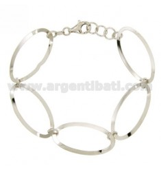 BRACELET OVAL SHAPED SILVER RHODIUM TIT 925 ‰ CM 18