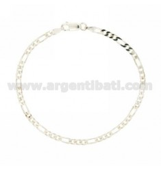 BRACELET 3+1 MM 3.4 CM 21 IN AG TIT 925‰