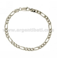 BRACELET 3+1 5 MM 21 CM IN SILVER RHODIUM TIT 925‰
