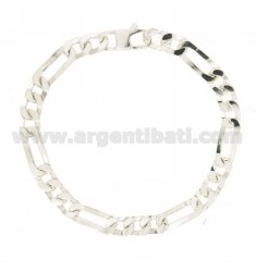 BRACELET 3+1 MM SLIM 7 CM 21 IN AG TIT 925‰