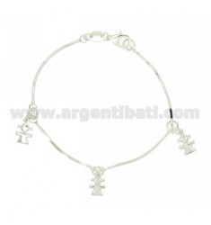 BRACELET QUEUE TOPO COMPRESSED GIRLS WITH PENDING IN SILVER 925 ‰ TIT CM 18
