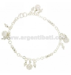 ROLO BRACELET 'BEAT WITH DISC BALLS AND SOLES AND PENDING BALLS IN SILVER TIT 925 18 CM 18