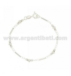 BRACELET WITH TUBES AND SILVER BALL RIGATE TIT 925 ‰ CM 18