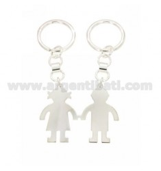 KEY RING DIVISIBLE BABY-GIRL WITH BRISE 'HOOK IN SILVER TIT 925