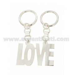 KEY RING DIVISIBLE LOVE WITH BRISE 'HOOK IN SILVER TIT 925