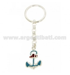 KEYCHAIN STILL ENAMELLED WITH BRISE 'HOOK IN SILVER TIT 925
