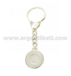 ROUND KEYCHAIN WITH BRISE 'HOOK IN SILVER TIT 925 ‰