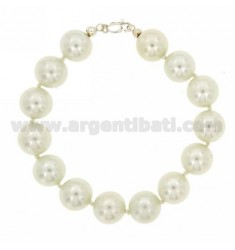 12 MM PEARL BRACELET WITH CLOSURE IN SILVER TIT 925 ‰