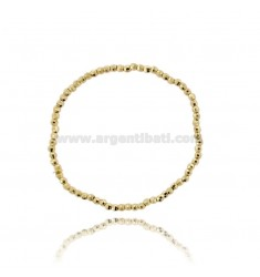 ELASTIC BRACELET WITH DIAMOND BALL 3 MM SILVER GOLD PLATED TIT 925 ‰
