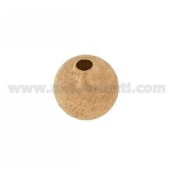 DISTANCE Ball mit Loch 18 MM MM 4 IN AG zerkratzt und Rose Gold überzogenen TIT 925 ‰