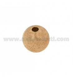 DISTANCE BALL WITH HOLE 18 MM MM 4 IN AG SCRATCHED AND ROSE GOLD PLATED TIT 925 ‰
