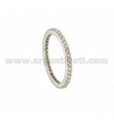 RING IN SILVER RHODIUM VERETTA TIT 925 ‰ AND ZIRCONIA MEASURE 9