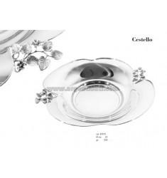 CESTELLO CON FUSIONE RAMO ROSELLINE DIAM CM 23