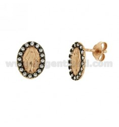 Earrings LOBO MIRACULOUS IN SILVER AND ROSE GOLD PLATED RUTENIO TIT 925 ‰ AND ZIRCONIA