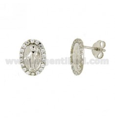 Earrings LOBO MIRACULOUS SILVER RHODIUM TIT 925 ‰ AND ZIRCONIA