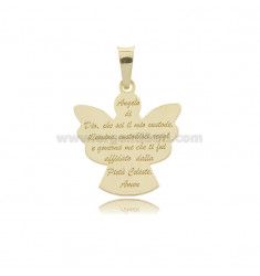ANGIOLETTO PENDANT WITH PRAYER PLATE MM 23X21 GOLD PLATED IN AG TIT 925 ‰