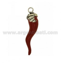 HORN PENDANT FRUIT BASKET 74 MM SILVER microcast BRUNITO TIT 800 ‰ AND POLISH