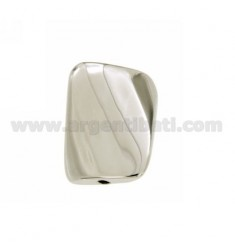 DISTANCE RECTANGLE SHAPED HOLE 25x19 MM 2.4 MM IN AG TIT RHODIUM 925 ‰