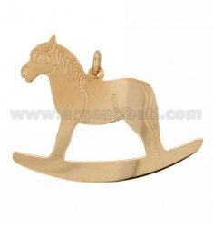 ROCKING HORSE CHARM MM 46X44 SILVER ROSE GOLD PLATED TIT 925 ‰