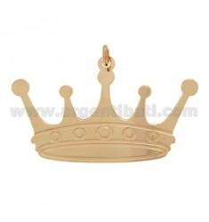 CHARM CORONA 52X32 MM PLATA rosa de oro bañado TIT 925 ‰