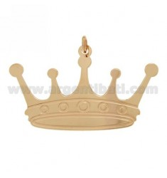 CHARM CROWN 52X32 MM SILVER ROSE GOLD PLATED TIT 925 ‰