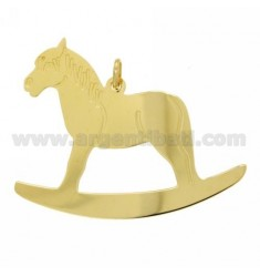 ROCKING HORSE PENDANT IN GOLD PLATED 46X44 MM TIT 925 ‰