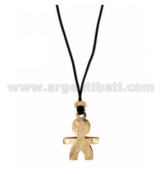BABY BOY PENDANT 28x20 MM IN ROSE GOLD PLATED AG TIT 925 ‰ SILK CERATA