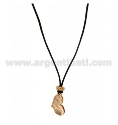 Pendant CUORICINO LOVE IN MM 18x10 AG PLATED ROSE GOLD IN AG TIT 925 ‰ SILK CERATA