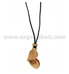 Pendant LOVE HEART IN AG PLATED 29X16 MM ROSE GOLD IN AG TIT 925 ‰ SILK CERATA
